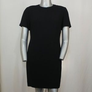 Talbots Classic Black Short Sleeve Sheath Dress 14